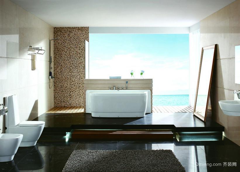 2016精美的现代实惠的欧式大户型浴室装修效果图