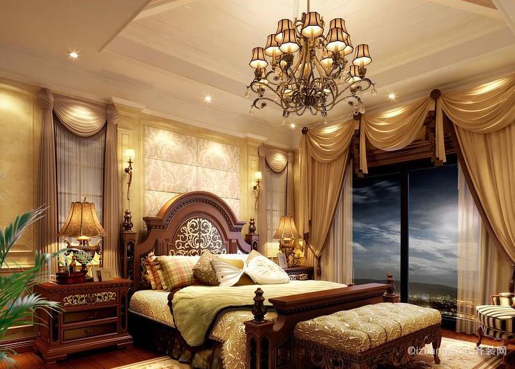 现代欧式两房一厅卧室背景墙装修效果图实例