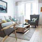 北欧客厅实木地板