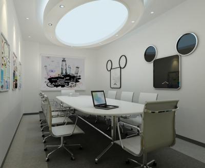 唯美独特的现代会议室背景墙装修效果图