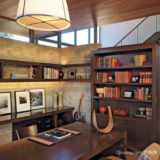 现代美式风格5平米小书房装修效果图