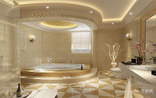 2016大户型精致的欧式现代浴室装修效果图