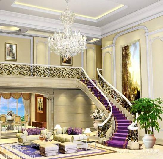 90平米大户型欧式楼梯装修效果图实例欣赏