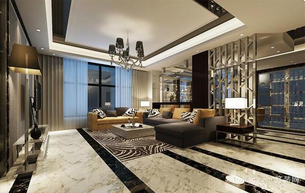 后现代风格小复式楼客厅装修效果图欣赏