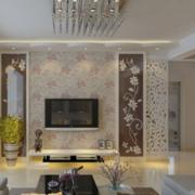 2016大户型欧式硅藻泥电视背景墙装修效果图