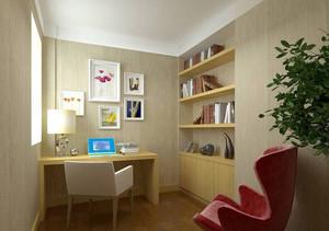 简约朴素6平米小书房装修效果图