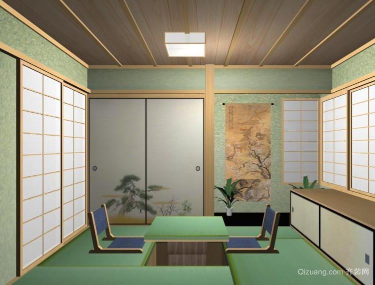 2016舒适的大户型日式榻榻米卧室装修效果图