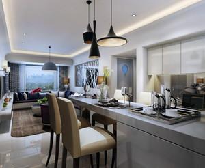 2016现代简欧风格大户型室内餐厅吊顶装修效果图