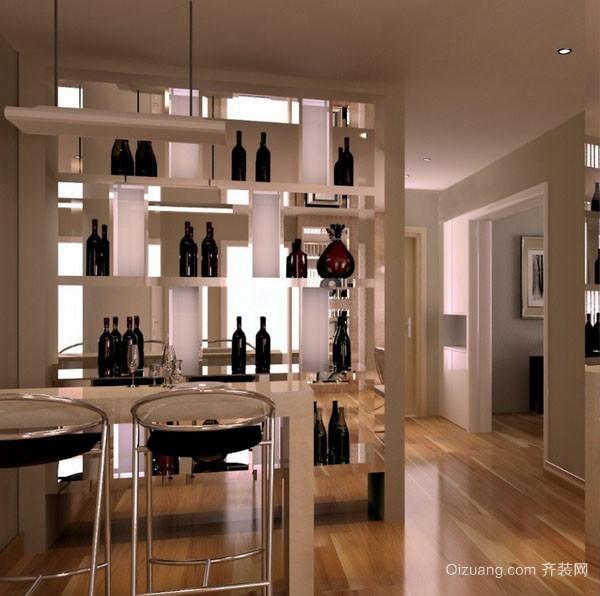 简约现代化单身公寓酒柜设计效果图