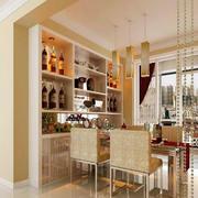 现代90平米小户型家居餐厅酒柜设计图