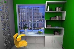 个性十足:简约60平米小书房装修效果图