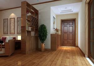 新中式风格小客厅隔断酒柜设计效果图