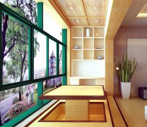 90平米大户型日式风格现代阳台榻榻米装修效果图