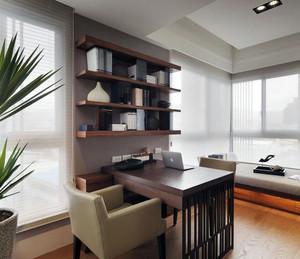 都市单身男士公寓小书房装修效果图