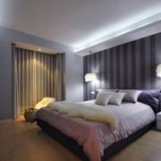2016大户型现代简约卧室背景墙装修效果图