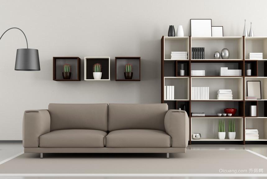 2016大户型经典的现代欧式客厅装修效果图