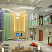 2016唯美大方的现代别墅楼中楼装修效果图室内鉴赏