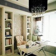 温婉简约女生小公寓小书房装修效果图