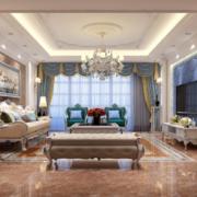 120平米大户型现代欧式室内装修效果图大全