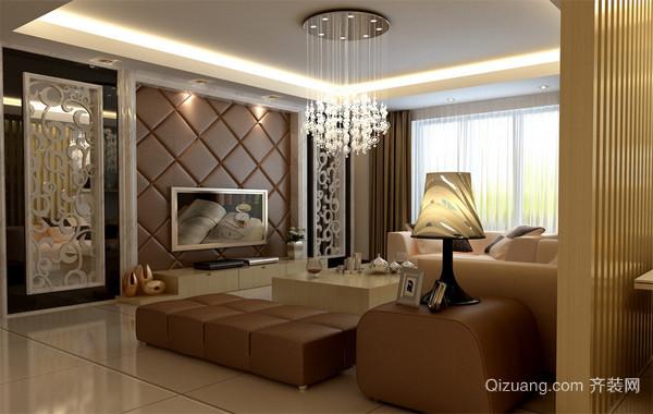 120平米大户型现代简欧风格客厅吊顶装修效果图