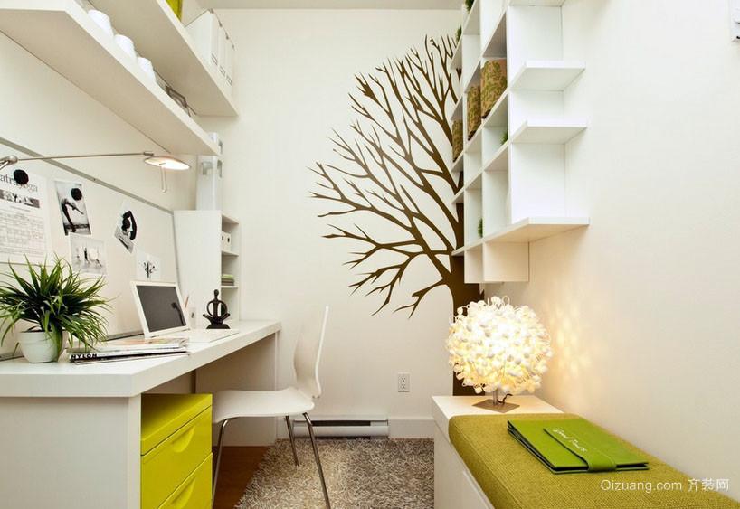 清新自然:家居4平米小书房装修效果图