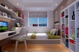 前卫都市三室一厅小书房装修效果图