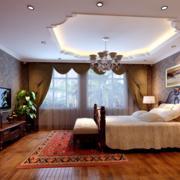 2016大户型美式装修风格样板房卧室装修效果图