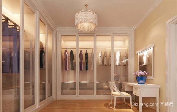 90平米大户型欧式室内衣帽间装修效果图鉴赏