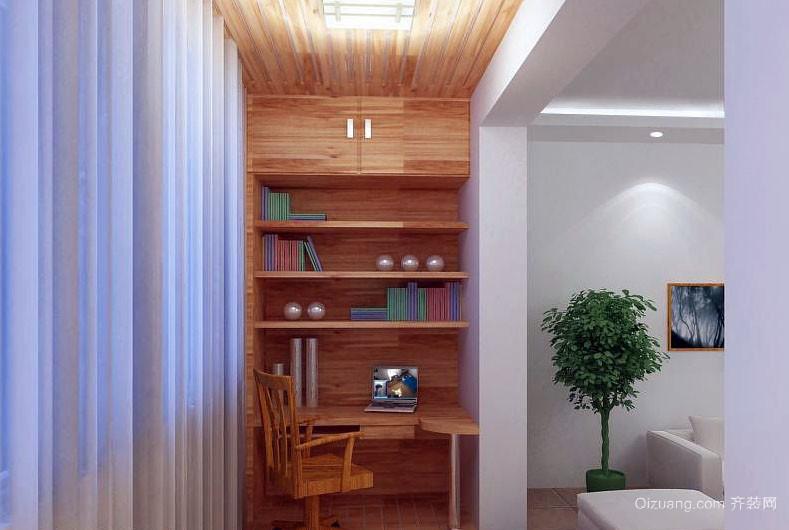 自然唯美100平米阳台小书房装修效果图