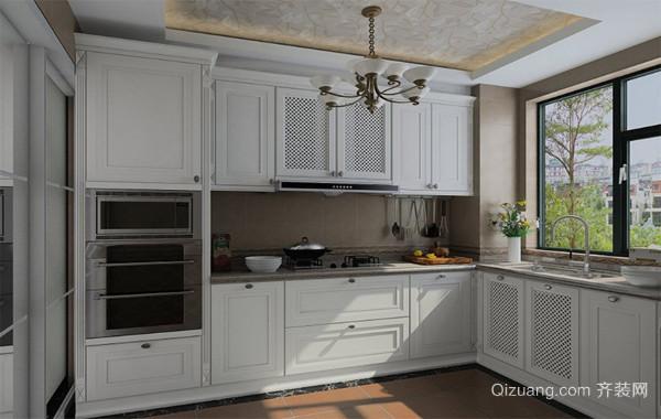 100平米大户型欧式室内橱柜装修效果图实例