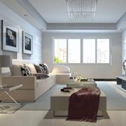 都市简洁客厅展示