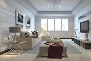 简约年轻两室一厅客厅装修效果图欣赏