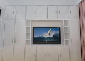 宜家便利:大卧室电视背景墙装修图片