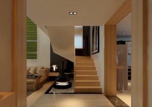 现代欧式别墅型室内楼梯装修效果图实例