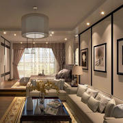 后现代风格50平米单身公寓客厅装修效果图