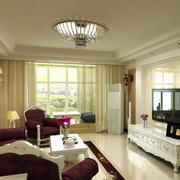 简欧风格22平米客厅吊顶设计装修效果图