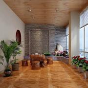 新中式风格的阳台