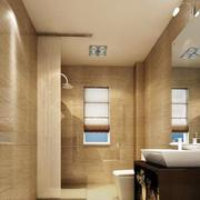 新房卫生间黄色瓷砖