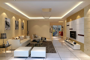 现代都市110平米两居室新房布置图片