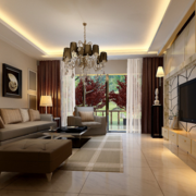 2016大户型欧式两室一厅客厅装修效果图