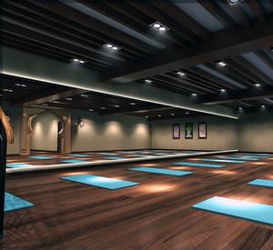 2016唯美的现代都市装修瑜伽馆吊顶效果图实例