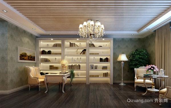 2016精致的现代大户型书房吊灯吊顶装修效果图片