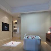 现代欧式小户型经典造型浴室装修效果图