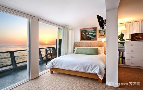 现代欧式120平米房子卧室背景墙装修效果图实例