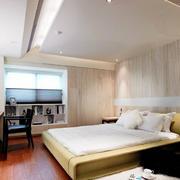 简约朴素单身公寓卧室装修效果图