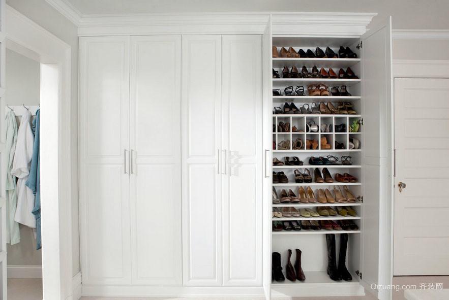现代时尚三居室衣帽间鞋柜装修效果图