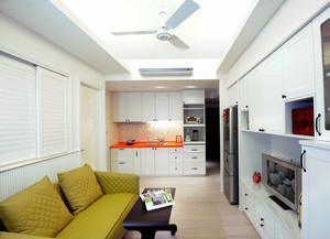 2016现代小户型单身公寓客厅装修效果图