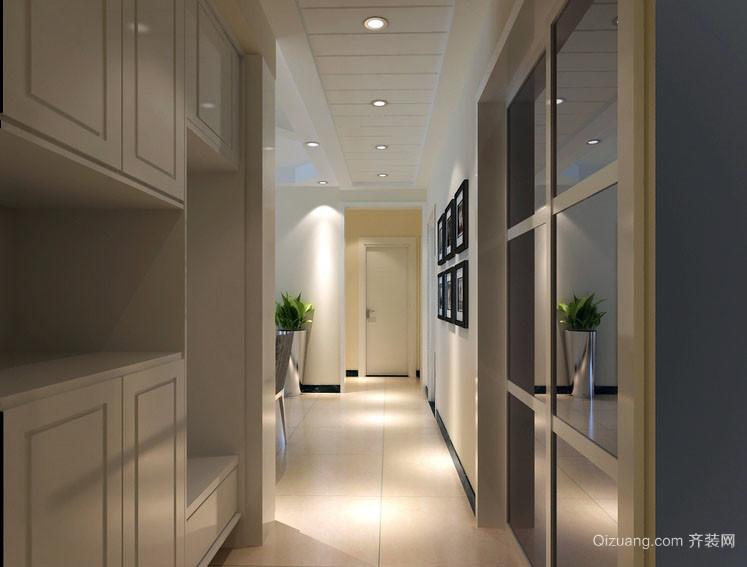 现代都市家居走廊吊顶设计装修效果图