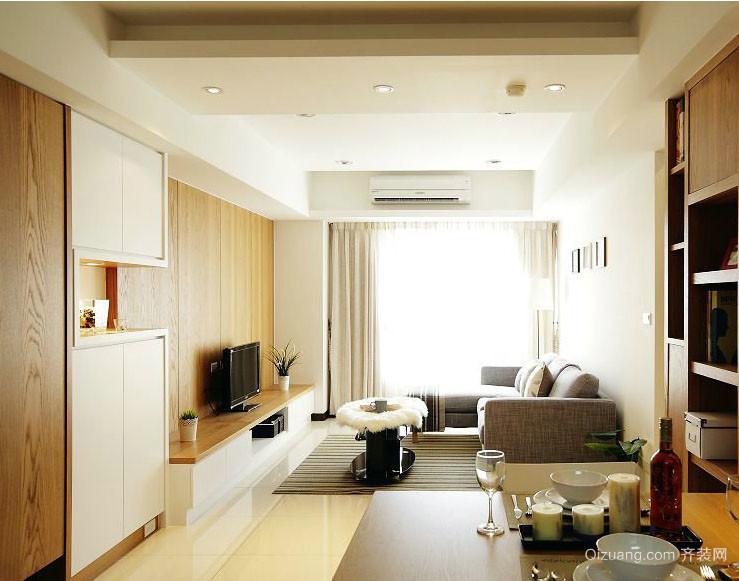 简约50平米单身公寓客厅装修效果图
