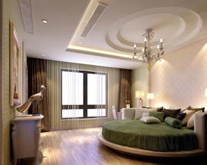 温馨韩式卧室圆形吊顶设计装修效果图